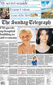The Sunday Telegraph front page for 7 June 2020
