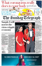 The Sunday Telegraph front page for 8 March 2020