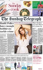 The Sunday Telegraph (UK) Newspaper Front Page for 8 April 2018