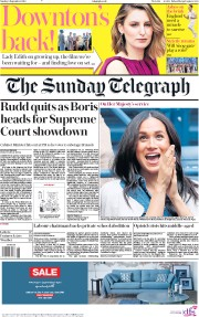 The Sunday Telegraph (UK) Newspaper Front Page for 8 September 2019