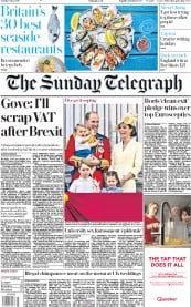 The Sunday Telegraph (UK) Newspaper Front Page for 9 June 2019