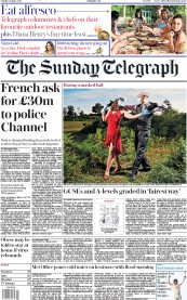 The Sunday Telegraph front page for 9 August 2020