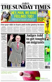 The Sunday Times Newspaper Front Page (UK) for 10 June 2012