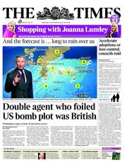 The Times Newspaper Front Page (UK) for 11 May 2012