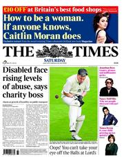 The Times Newspaper Front Page (UK) for 11 June 2011