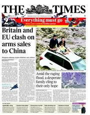 The Times (UK) Newspaper Front Page for 12 January 2011