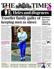 The Times Newspaper Front Page (UK) for 12 July 2012