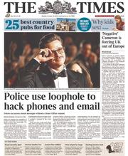 The Times (UK) Newspaper Front Page for 20 October 2014