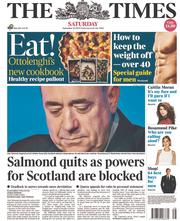 The Times (UK) Newspaper Front Page for 20 September 2014
