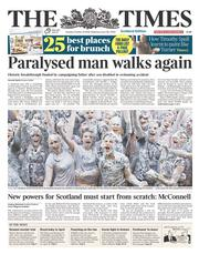 The Times (UK) Newspaper Front Page for 21 October 2014
