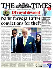 The Times () Newspaper Front Page for 21 August 2012
