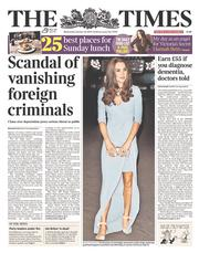 The Times (UK) Newspaper Front Page for 22 October 2014