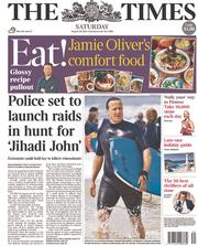The Times (UK) Newspaper Front Page for 23 August 2014