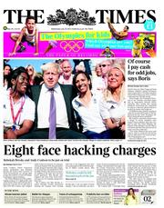 The Times Newspaper Front Page (UK) for 25 July 2012
