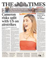 The Times (UK) Newspaper Front Page for 28 August 2014