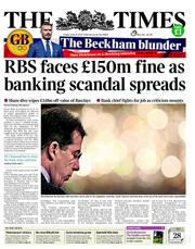 The Times Newspaper Front Page (UK) for 29 June 2012