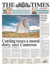 The Times (UK) Newspaper Front Page for 30 October 2014