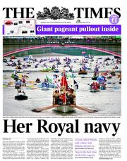 The Times Newspaper Front Page (UK) for 4 June 2012