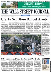 The Wall Street Journal Europe Newspaper Front Page (UK) for 21 July 2012