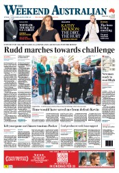 Weekend Australian Newspaper Front Page (Australia) for 18 February 2012