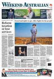 Weekend Australian (Australia) Newspaper Front Page for 1 October 2011