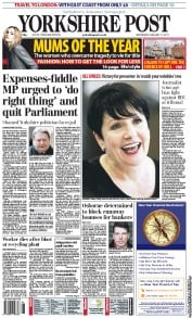 Yorkshire Post (UK) Newspaper Front Page for 12 January 2011