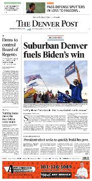 Front Page of Denver Post newspaper from Denver</a> <!--DON