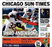 Front Page of Chicago Sun-Times newspaper from Chicago</a> <!--DON