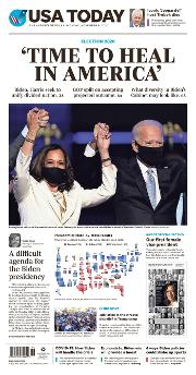 Front Page of USA Today newspaper from Arlington</a> <!--DON