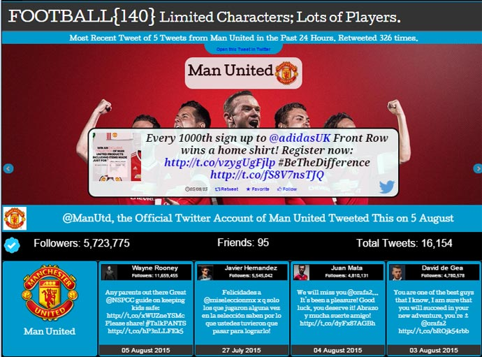 Visit Football140 for Tweets from the English Premier League